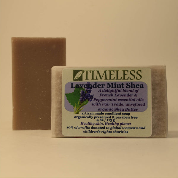 Organic Shea Butter Bar Soap - Lavender Mint