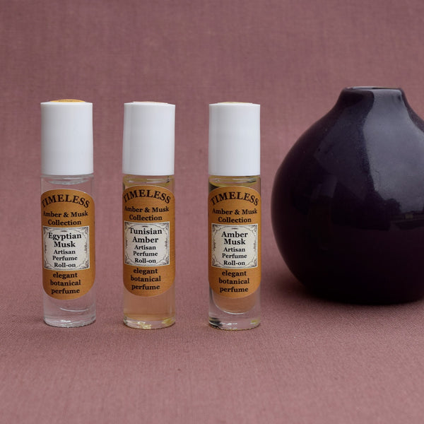 Botanical Perfume Roll-on Collection - Ambers & Musks