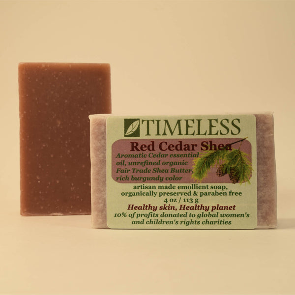 Organic Shea Butter Bar Soap - Red Cedar