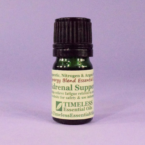 TIMELESS Adrenal Support Synergy Blend helps relieve fatigue related to stress.