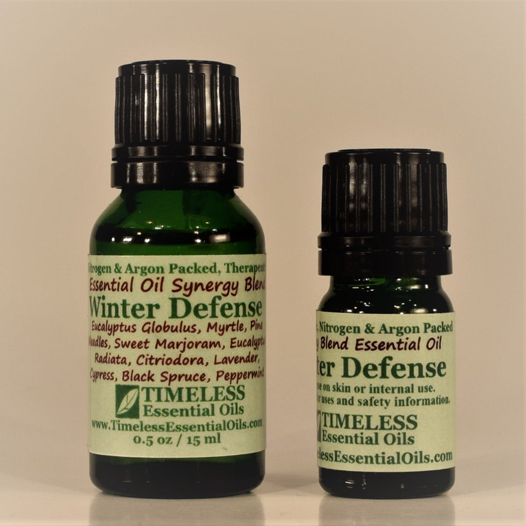 TIMELESS Winter Defense Synergy Blend essential oil is a great diffuser blend to purify household air.