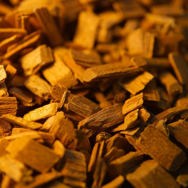 Amyris wood chips used for making essential oil.