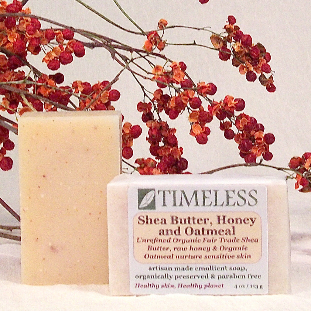 Organic Shea Butter Bar Soap - Shea Butter, Honey & Oatmeal