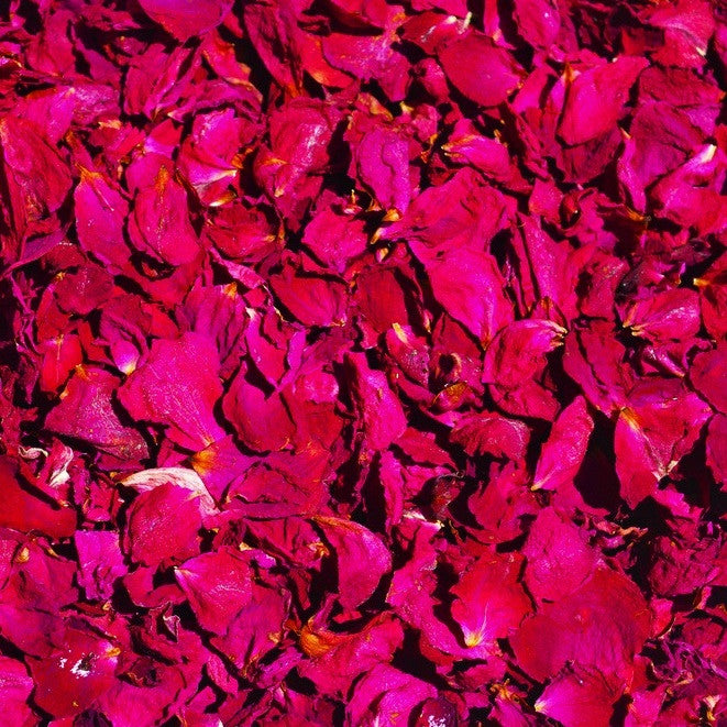 Rose Petals, Dried, Certified Organic
