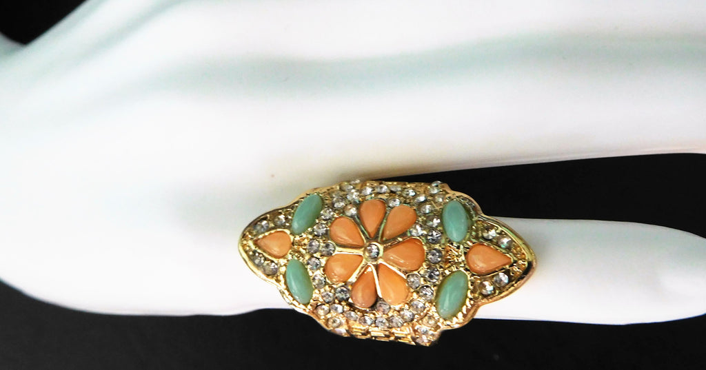 Bu-tiffle colorful rhinestone ring