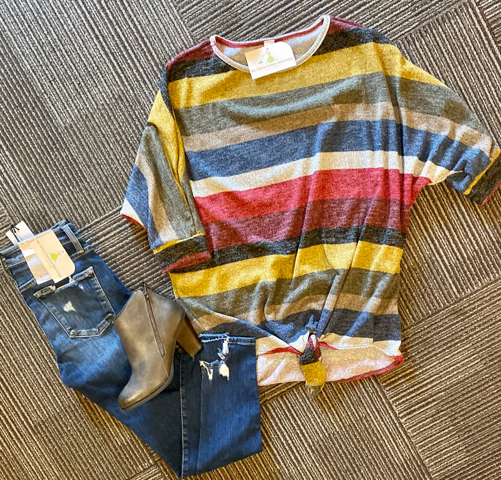 Cy striped fall top