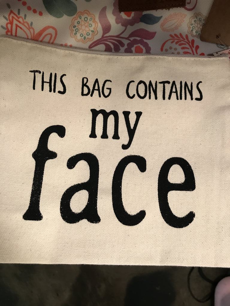 This bag contains my face bag