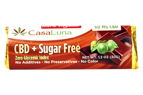 CasaLuna Organic CBD Sugar Free Chocolate Bar 60mg