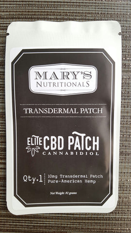 Mary's Nutritionals Elite CBD Transdermal Patch 10mg
