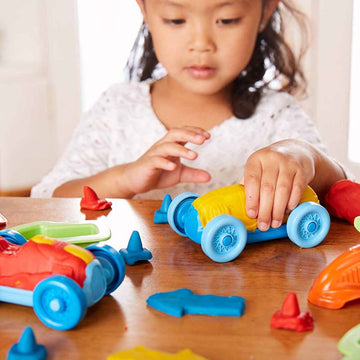Plastilina Eco - Set coches de carreras (+2años)