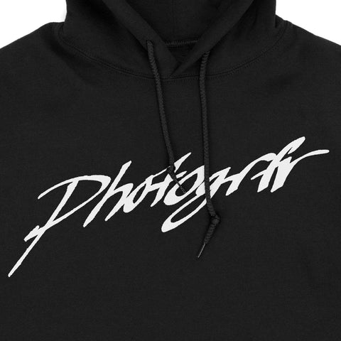 Calligraphy Hand Drawn Hoodie - Black