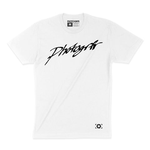 Calligraphy Hand Drawn Tee - White