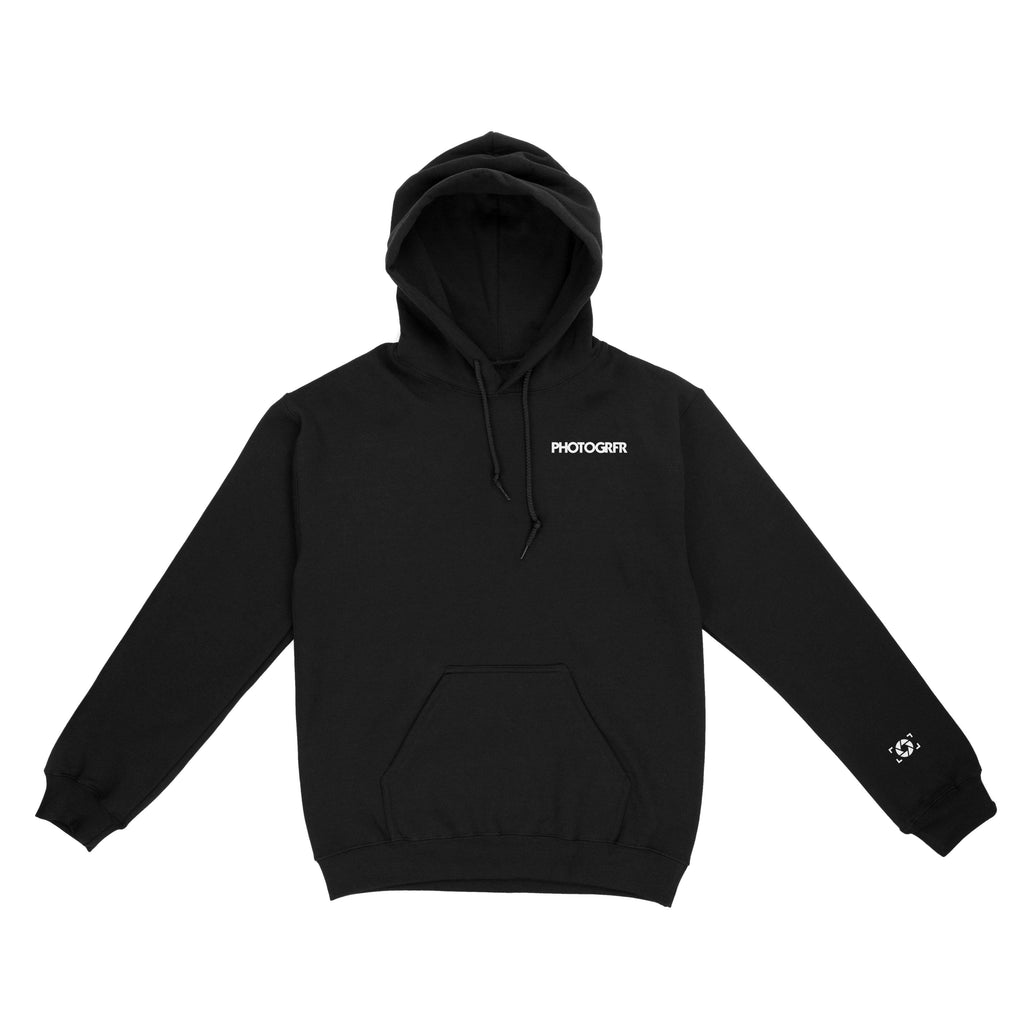 Minimal Photogrfr Logo Hoodie - Black Hoodies & Jackets PHOTOGRFR.COM