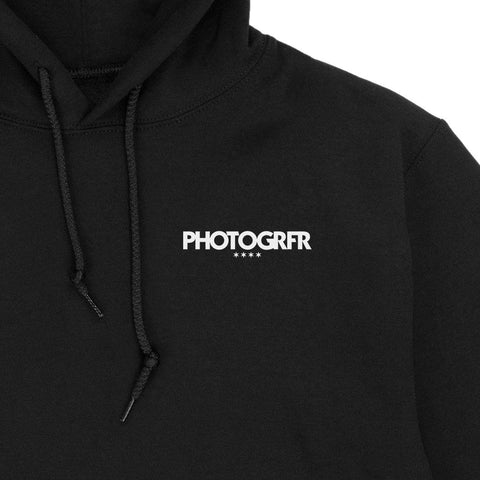 The Chicago Roots & Flag Hoodie - Black