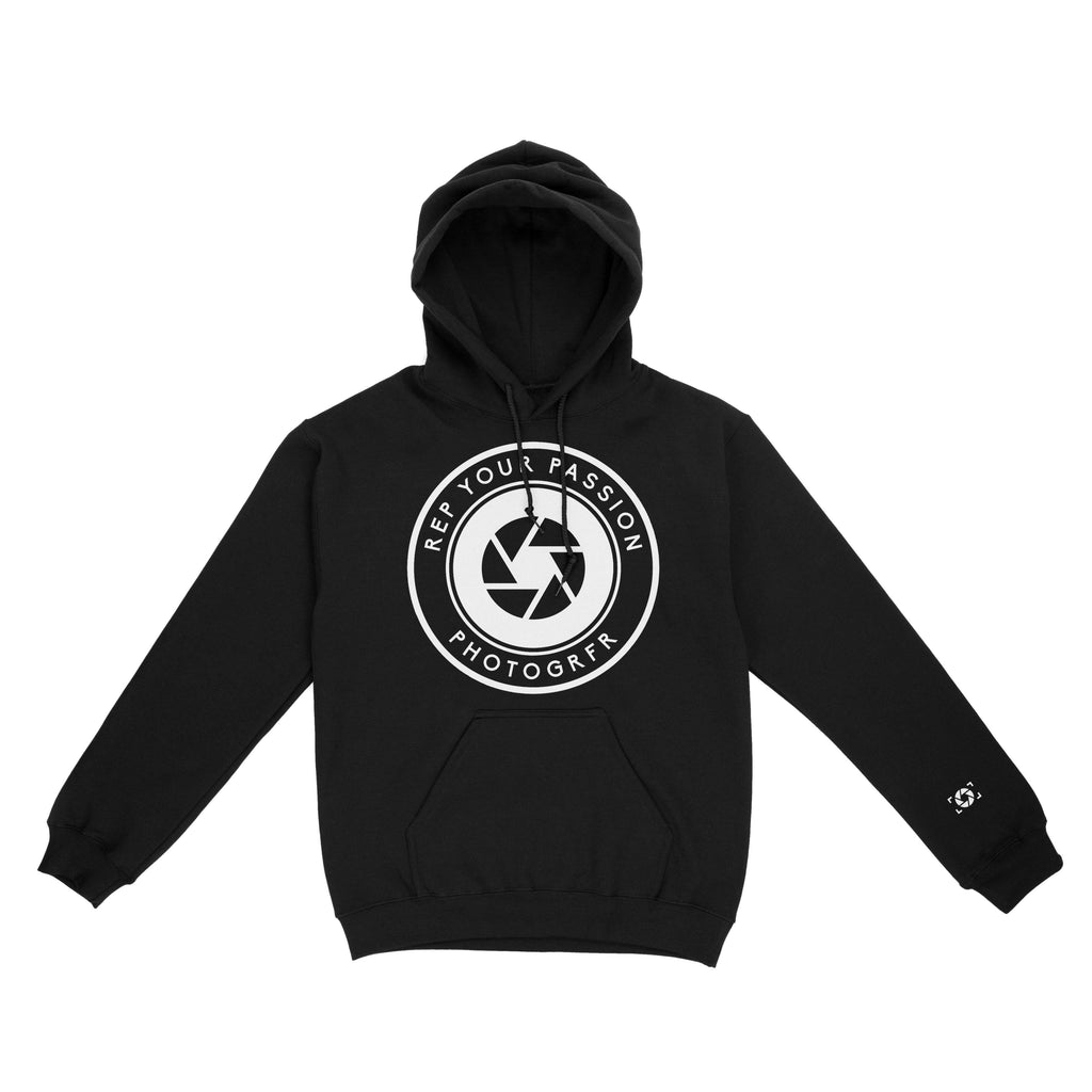 The Round Logo Hoodie - Black Hoodies & Jackets PHOTOGRFR.COM