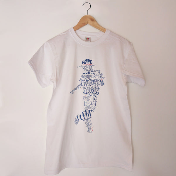 T-shirt ILTD AllStyles Dance WHITE/blue