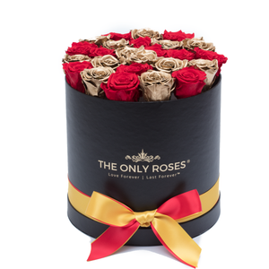 Medium Round Black Huggy Rose Box