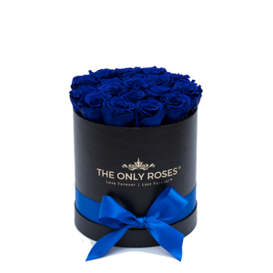 Small Round Black Huggy Rose Box