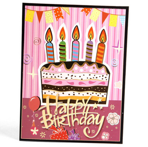 Birthday Cake | 3D Card - The Only Roses