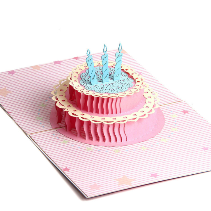 Birthday Cake 3D Card The Only Roses