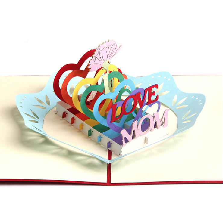 Mother's Day I LOVE MOM | 3D Card - The Only Roses