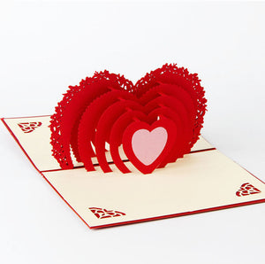 Giant Heart | 3D Card - The Only Roses