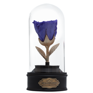 Purple Preserved Rose | Beauty and The Beast Music Globe - The Only Roses