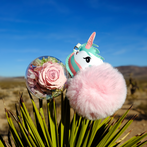 Light Pink Preserved Rose | Unicorn Keychain - The Only Roses