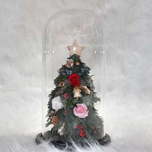 Christmas Tree with Preserved Roses