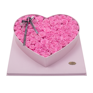 Pink Preserved Roses | Luxury Pink Romantic Love Box - The Only Roses