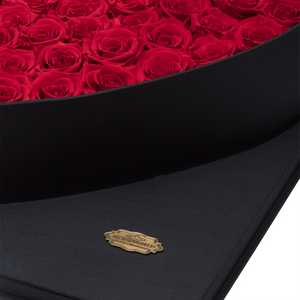 Red Preserved Roses | Luxury Black Romantic Love Box - The Only Roses