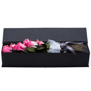 The Only Extra | 6 Pink Preserved Long Stem Roses Bouquet - The Only Roses