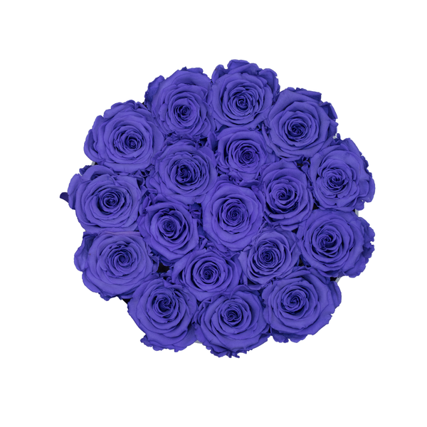 Rose Last One Year | Purple Preserved Roses Small Round ...  One
