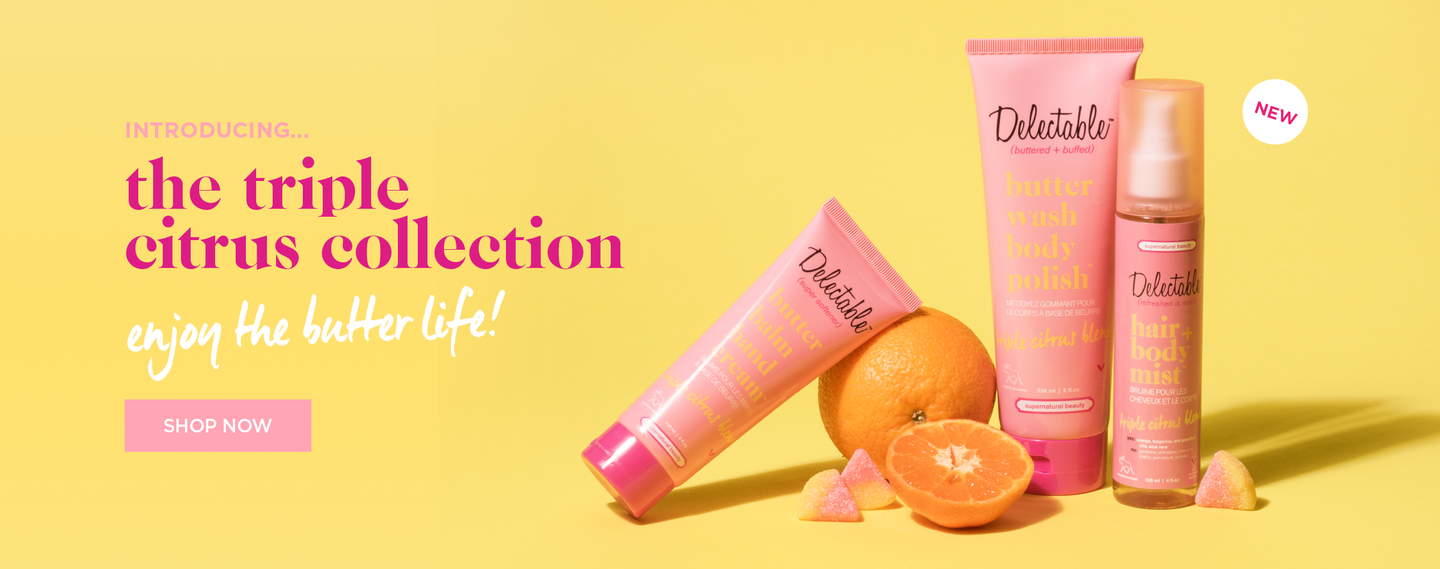 Triple Citrus Collection is here, Hair + body mist, Body Polish, Hand Cream