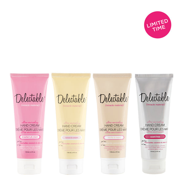 Delectable Nourishing Hand Cream Set | Hydrate Dry Hands & Cuticles | Coconut Oil