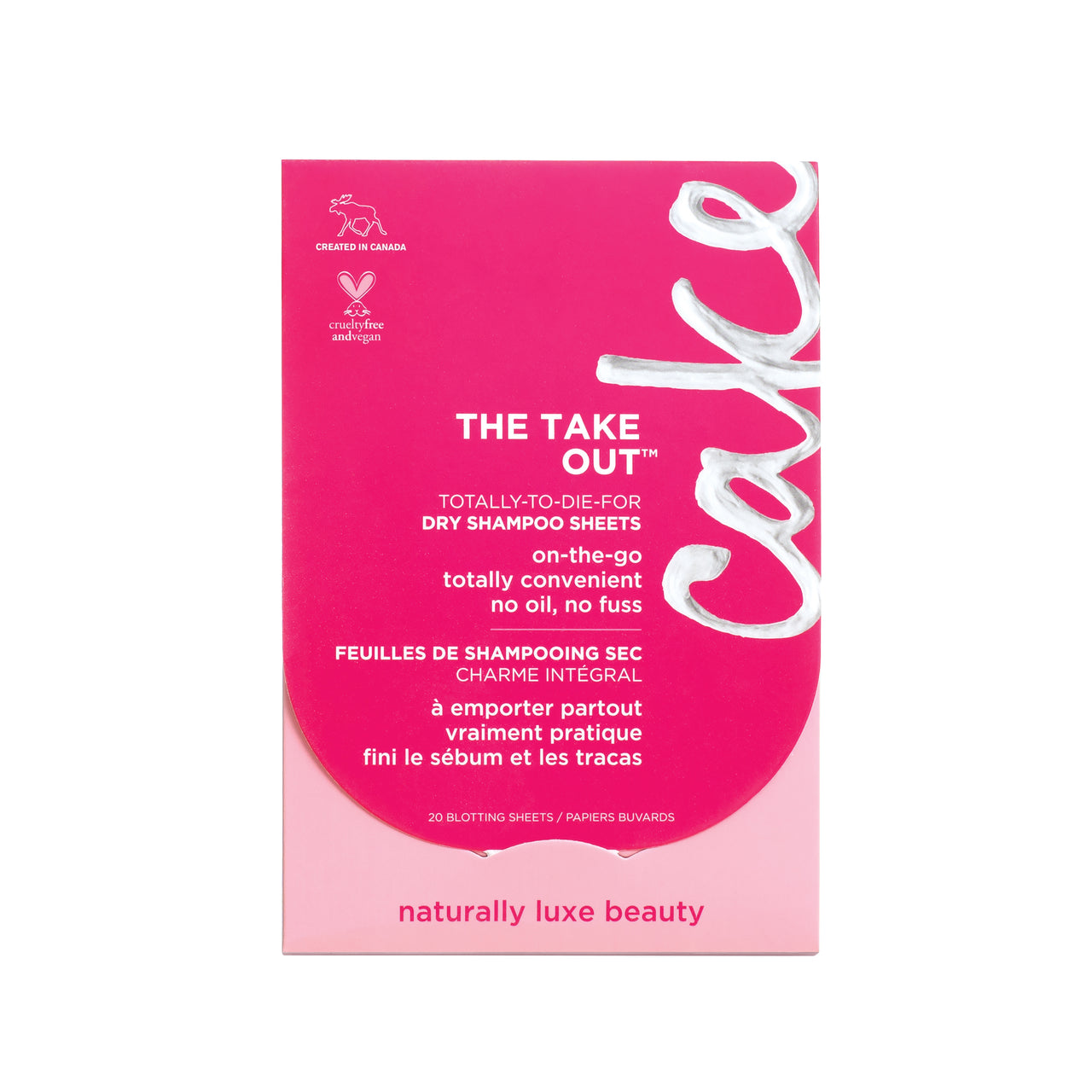 The Take Out  Dry Shampoo Sheets, 20 Blotting Sheets