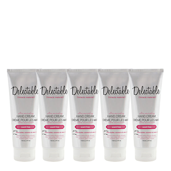 Unscented  Ultra Nourishing Hand Cream Bundle, 5 x 118 mL