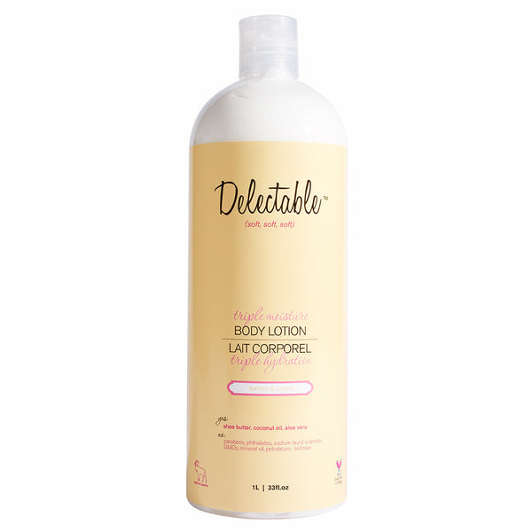 LEMON & CREAM TRIPLE MOISTURE BODY LOTION - HIVOLUME