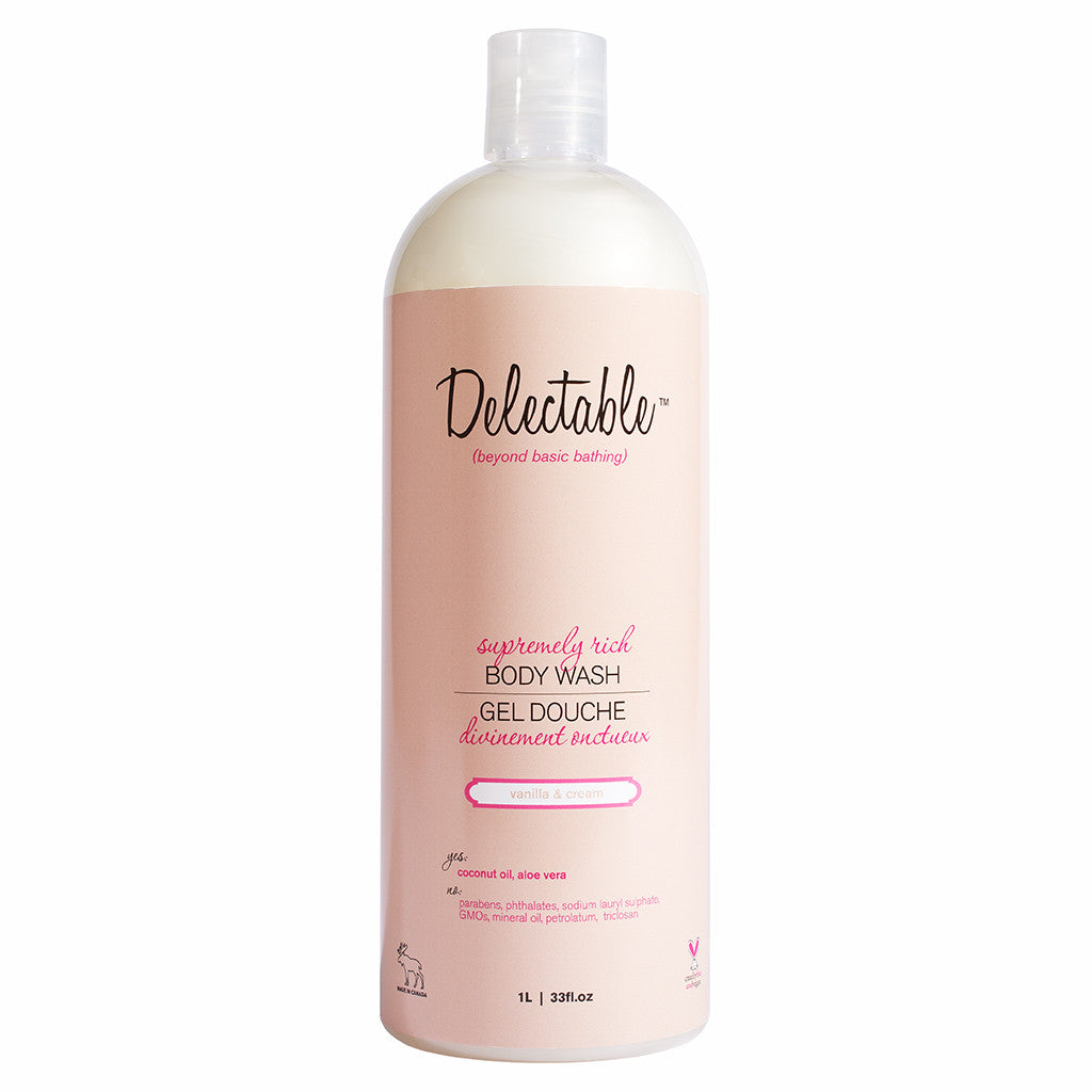 Delectable Vanilla Body Wash HiVolume - Vegan Cruelty Free Natural Beauty