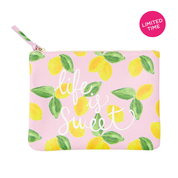 Life is Sweet<BR> Cosmetic Pouch