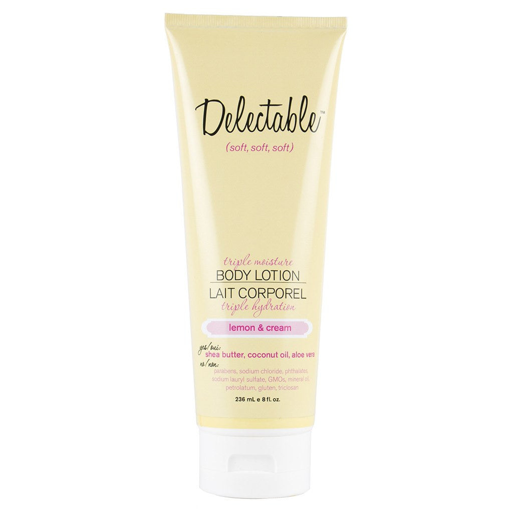 Delectable Lemon Body Lotion | Hydrate Dry Skin | Coconut Oil