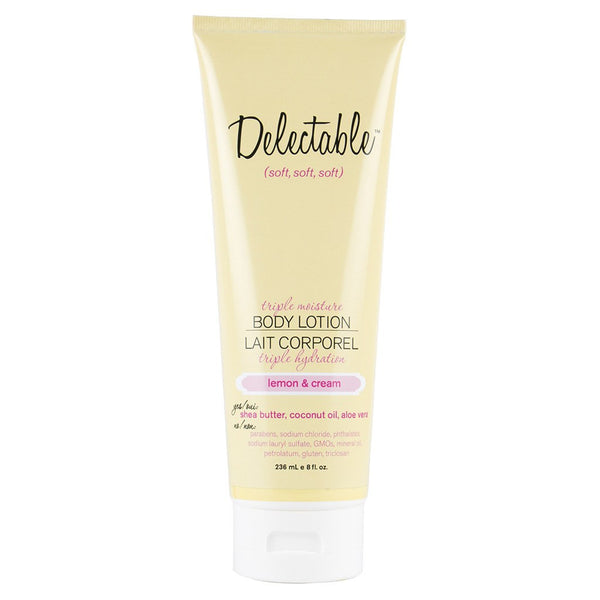 Delectable Lemon Body Lotion - Vegan Cruelty Free Natural Beauty
