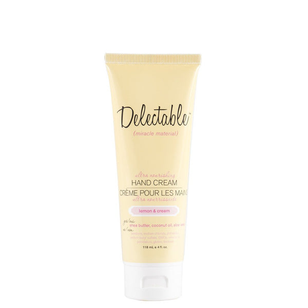 Delectable Nourishing Lemon Hand Cream | Hydrate Dry Hands & Cuticles | Coconut Oil