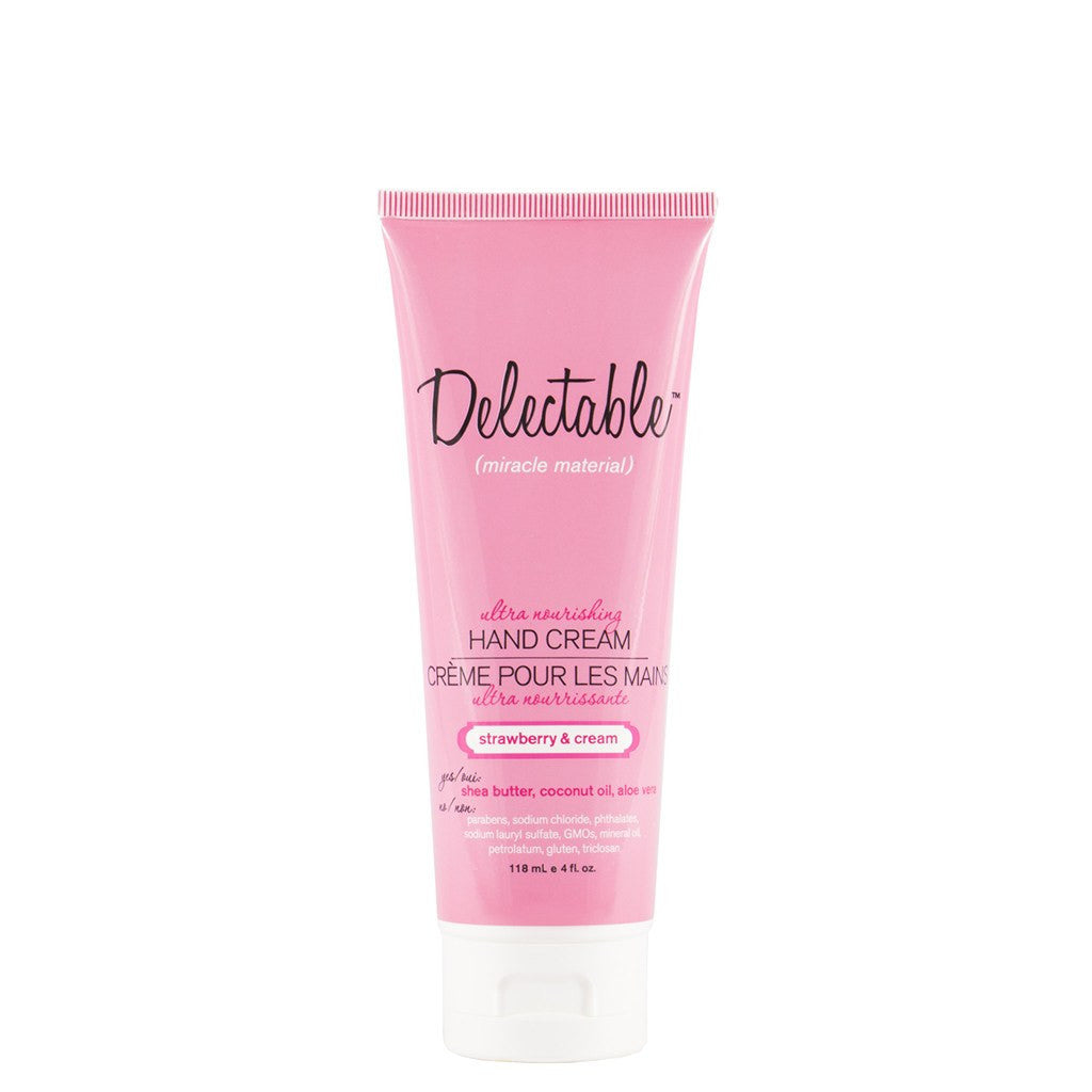 Delectable Strawberry Hand Cream - Vegan Cruelty Free Natural Beauty
