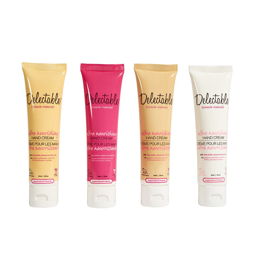 Delectable Best Hand Cream Set - Vegan Cruelty Free Natural Beauty