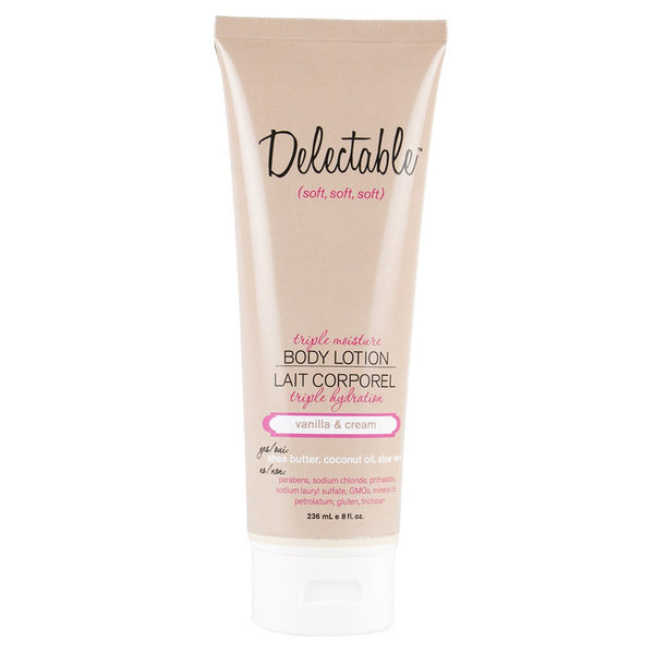 Delectable Vanilla Body Lotion | Hydrate Dry Skin | Coconut Oil