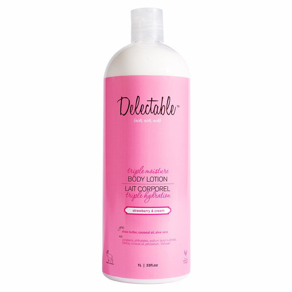Delectable Strawberry Body Lotion HiVolume - Vegan Cruelty Free Natural Beauty