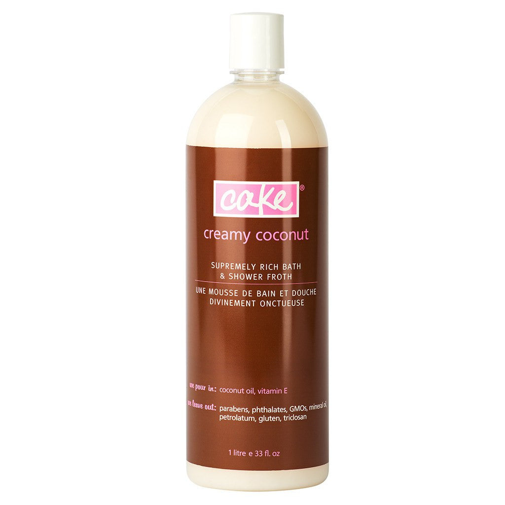 Cake Coconut Bath & Shower Froth HiVolume - Vegan Cruelty Free Natural Beauty