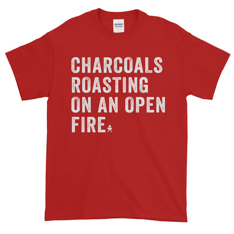 Charcoals Roasting on An Open Fire • Short-Sleeve T-Shirt