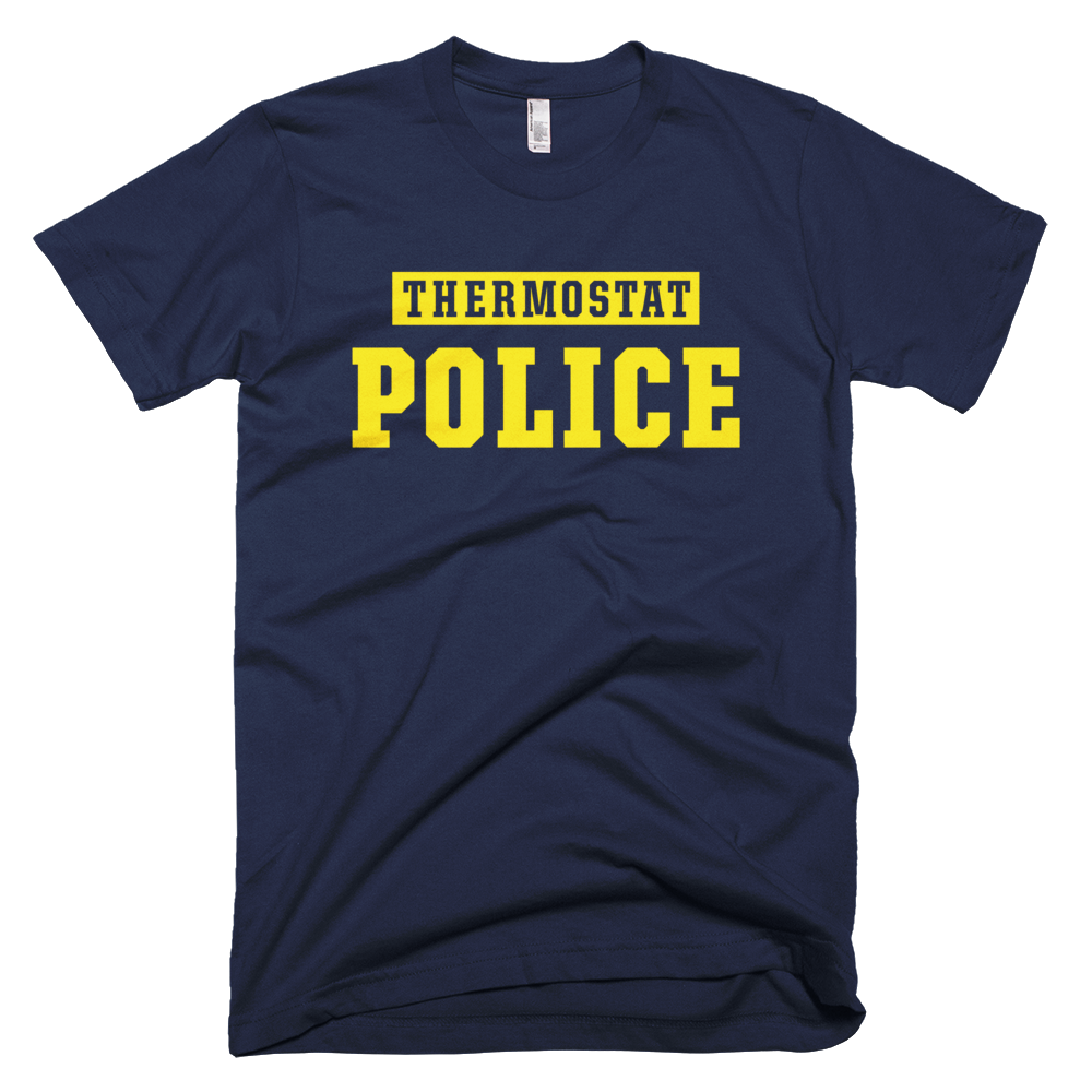 Thermostat Police Navy Short-Sleeve T-Shirt